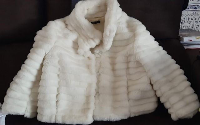 Karen Miller Preto Branco Aberto Frente Jaqueta De Noite Com