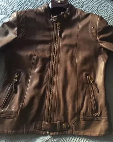 casaco couro legitimo forrado c la de carneiro 【 OFERTAS